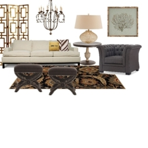 Earth tones used with tradional styled furnishings.
