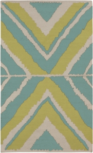 flat contemporary area rug