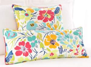 Brighten up your room with bright printed pillows