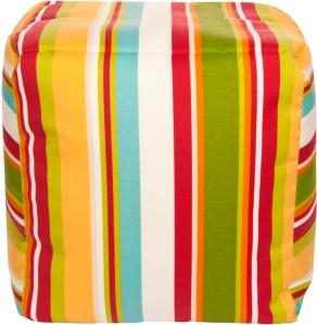 This is a great pouf for a fun colorful room.