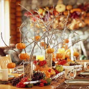 Branches, Pumpkins and candles