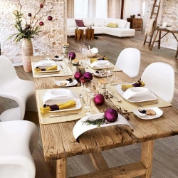 Casual and contemporary holiday table
