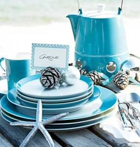 A coastal inspired holiday table