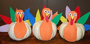 Mini pumpkin turkeys
