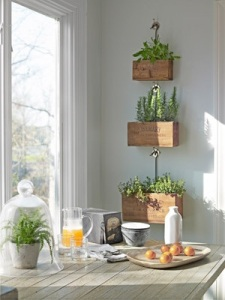 Great hanging boxes for added texture.