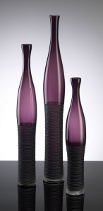 Amethyst bottle vases