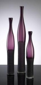 Amethyst bottle vases