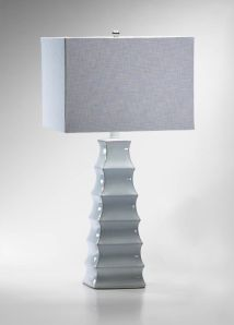 Beautifully classic white ceramic lamp
