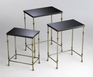Iron and granite nesting tables