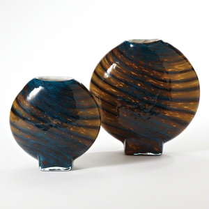 Hand blown glass vases.