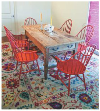 Country dining with a colorful flair