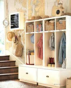 Great storage options for entries.