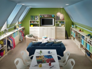 Playroom organization and comfort