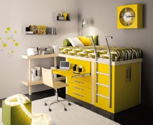Yellow-Furniture-for-Small-Room-Space