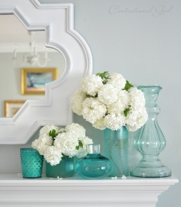 viburnum-in-blue-glass-vases