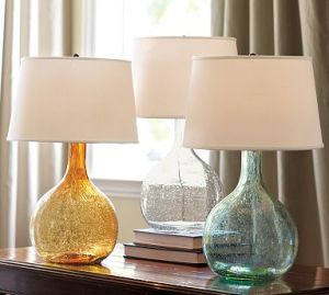 Colorful glass bubble lamps
