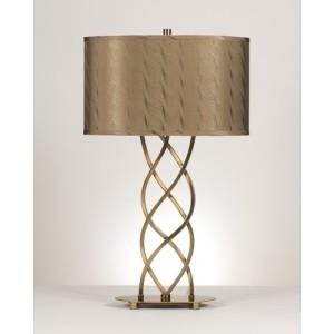 Modern twisted metal lamp.