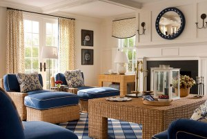 Woven textures add to the relaxed design.