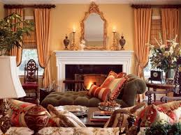 Tuscan design from French styled furniture in traditional fabrics.