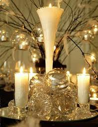 Candles and crystal - elegant and simple.