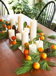 Traditional candles and greenery