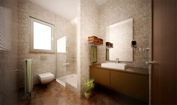 Bathrooms Without Tubs Image
