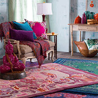 Bohemian style with a modern twist.