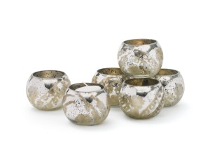 Who doesn't love candles and these mercury glass votive candle holders are just the right touch any time of year.
