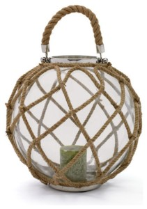 How much fun is this beach inspired candle holder. Change up the candle and other elements and you can go from everyday to holiday.