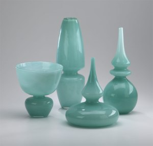 Who says holiday is traditional colors. The right elements added to these great vases will make any home feel festive.