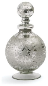 There isn't a vanity or buffet that doesn't look great with this mercury glass decanter/perfume bottle.