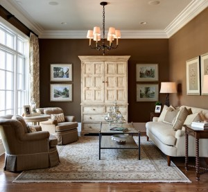 Traditional design from top to bottom reminiscent of the colonial styled home.