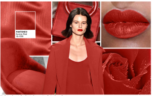 A deep red is always in fashion. This could be an accent or the base for a great design.