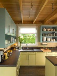 e2de4424a97d26a20e00fdcf212fad16--eclectic-kitchen-open-shelves